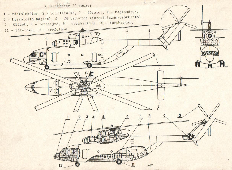 Чертежи вертолёта своими руками