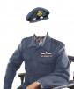 -RAAF Flight Lieutenant in BDU jacket and visor cap-Australian copy