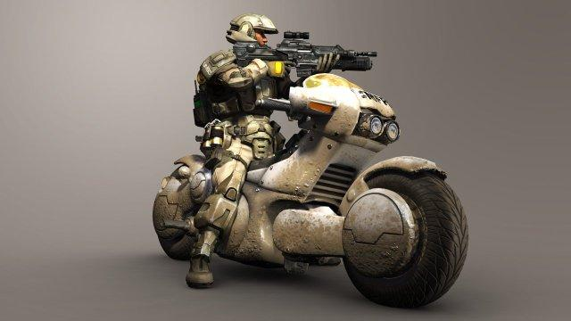 640x360_9099_Unsc_main_force_patrol_3d_sci_fi_gun_weapon_armor_motorcycle_future_soldier_hero_trooper_picture_image_digit