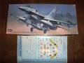 Hasegawa 1/72 F-16A Plus Fighting Falcon + decal set  4200.-