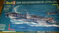 Revell 1/700 Independence CVL 22 +Fujumi WWII USA Aircraft 2000ft