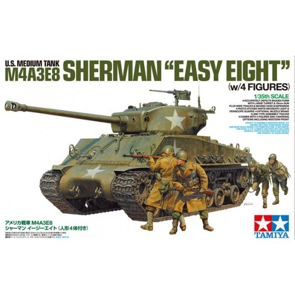 tamiya-25175-1-35-scale-us-medium-tank-m4a3e8-sherman-easy-eight-w-4-figures-limited-edition