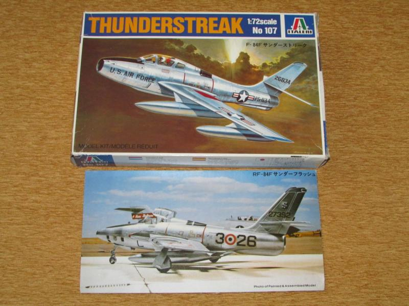 Italeri 1_72 F-84F Thunderstreak + RF-84F Thunderflash makett + Modeldecal RF-84F R.Nor.A.F. matrica