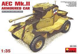 miniart AEC armored car RB csővel 9000,- + posta