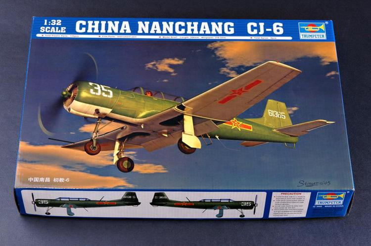 1-32-Scale-China-Nanchang-CJ-6-High-price-band-mechanism-Trumpeter-assembly-aircraft-model-1